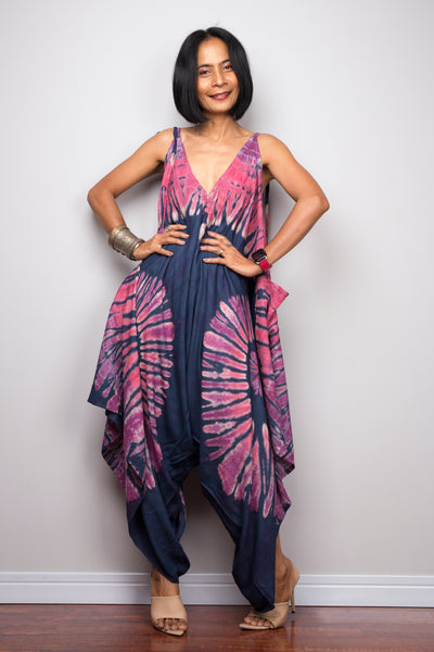 Tie dye jumpsuit with pockets