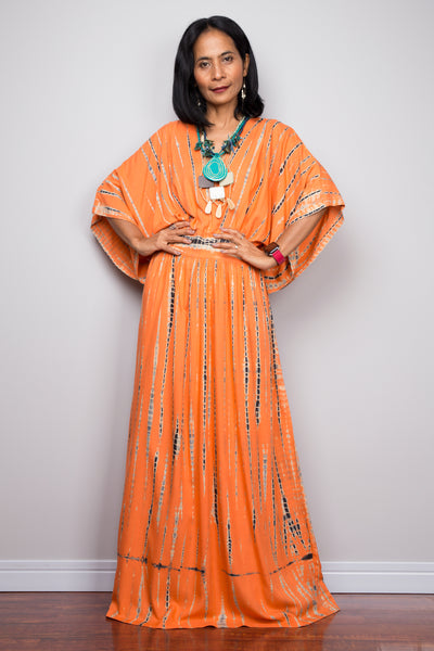 buy Tie dye kimono kaftan dress online.  Nuichan offers vast variety of tie dye dresses