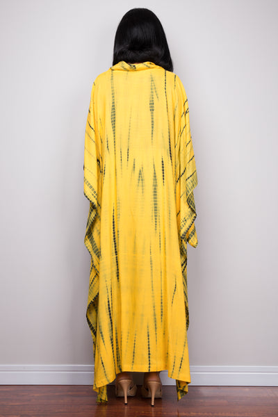 Buy Tie dye Kaftan tops online.  Short front tie dye dress by Nuichan