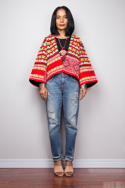 Hmong Jacket, Hill tribe Tunic Top