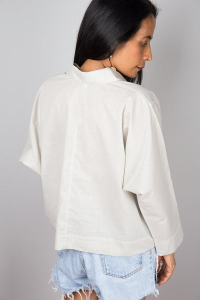 Pullover Blouse Shirt with pockets| Oversized loose fit women's shirt