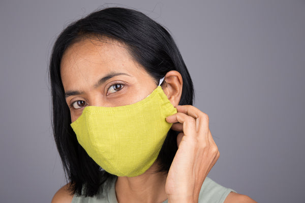 Washable Cotton Mask with filter pocket