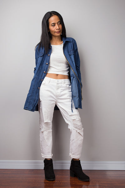 Denim jacket, Mid long denim jacket