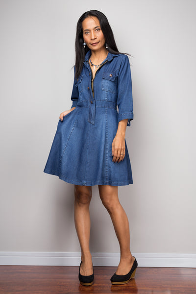 Short Denim dress, summer dress