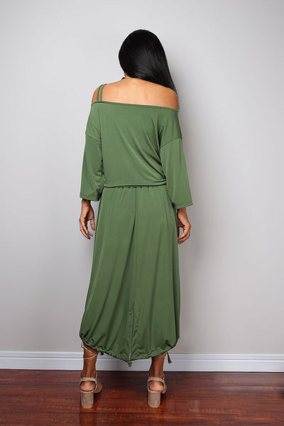 Green Two piece dress, green skirt and matching top, 2 piece set dress : Street Soul Collection no 2