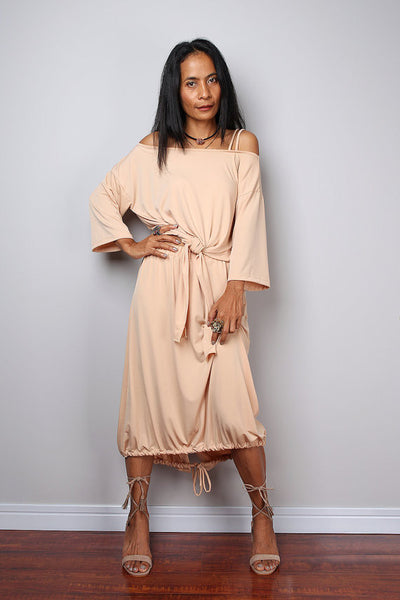 Beige two piece dress, beige skirt and matching top, 2 piece set dress : Street Soul Collection no 2