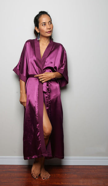 bridesmaid robe, purple robe, wedding robe, spa robe, beach robe by Nuichan