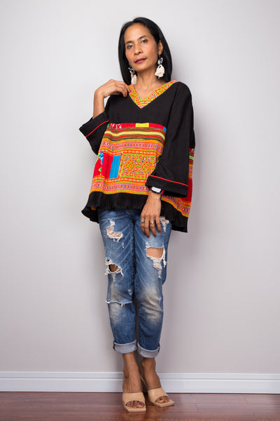 Pullover boho tunic top