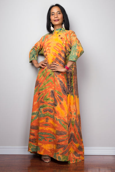 Oriental Kaftan, Women's Tunic, Short kaftan, Summer tunic, Boho Peacock dress, Beach wear, Midi caftan, Glass silk dress