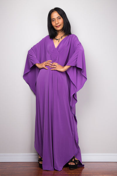 Buy purple dress online.  Long purple dress by Nuichan
