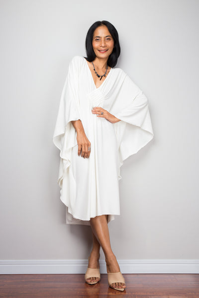 Buy Short White Kaftan Dress online. Nuichan offers high quality kaftan dresses at affordable prices.