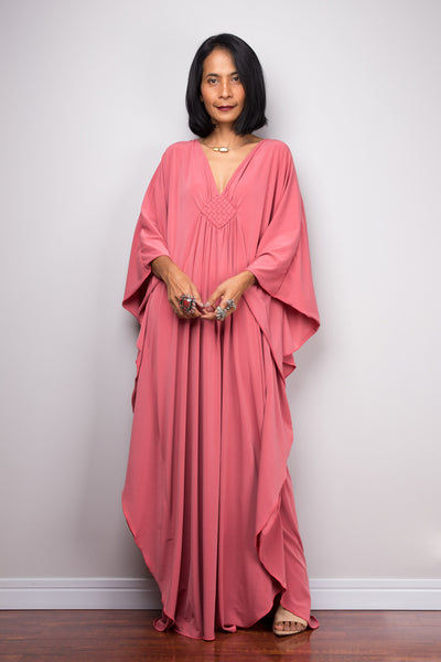 Shop Kaftan dresses online. Christmas cute dress gift for mum,  kimono kaftan dress by Nuichan