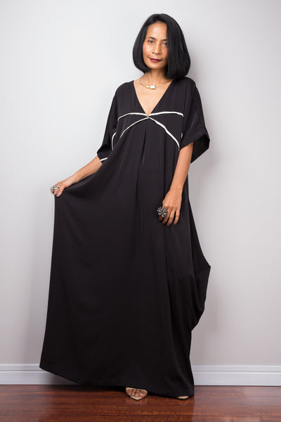 Black Maxi Dress | Gala Evening dress | Resort dress | Holiday Dress
