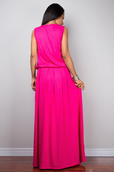 Pink Dress -  Sleeveless maxi dress : Autumn Thrills Collection No.9s