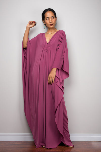 Kaftan | Caftan maxi dress | Oversized frock dress | evening dress | Resort dress with plunging neckline