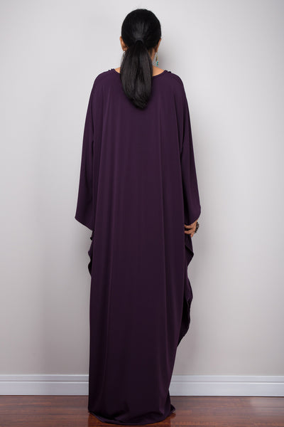 Dark purple kaftan