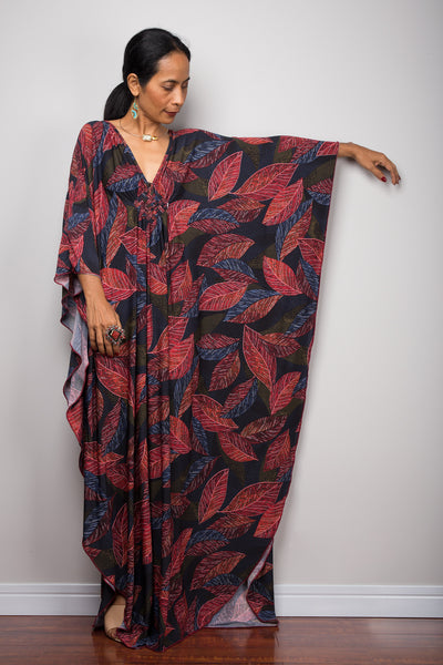 Boho kaftan dress by Nuichan.  Loose fit caftans for sale