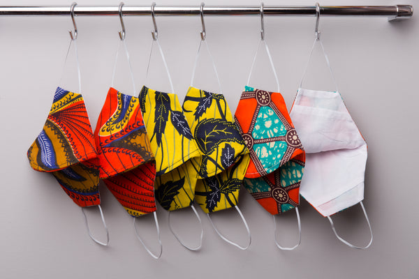 Washable Cotton Face Masks | Buy Ankara Cloth Mask with filter pocket by Nuichan