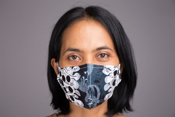 Buy Cotton Face Masks online | African Ankara Mask with filter pocket by Nuichan