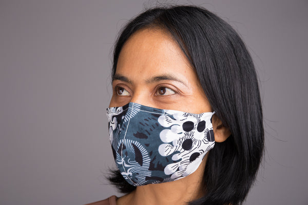 Buy Ankara Cotton  Masks online | African face Mask with filter pocket by Nuichan