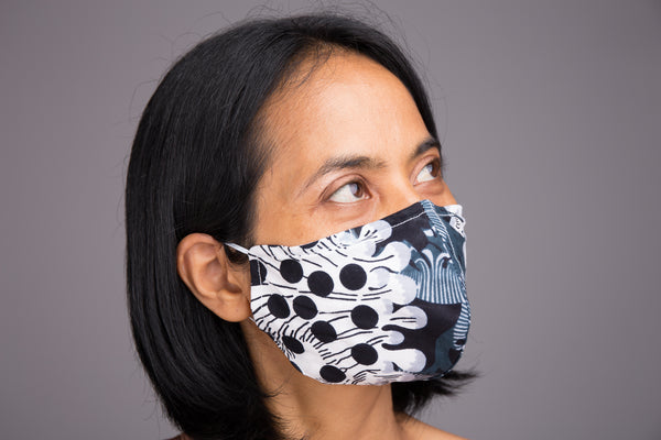 Buy Cotton Face Masks online | African print Mask with filter pocket by Nuichan