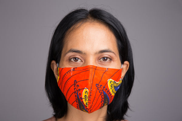 Reusable Cotton Face Masks online | Ankara Mask with filter pocket by Nuichan