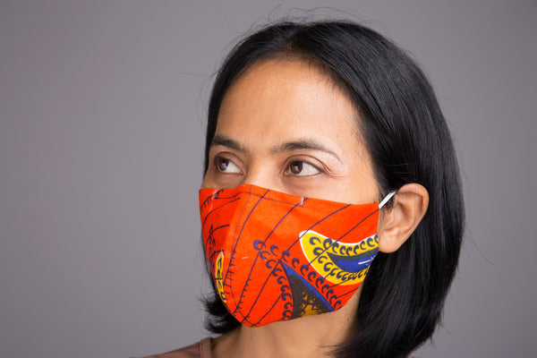 Washable Cotton Face Masks | Ankara Mask with filter pocket by Nuichan