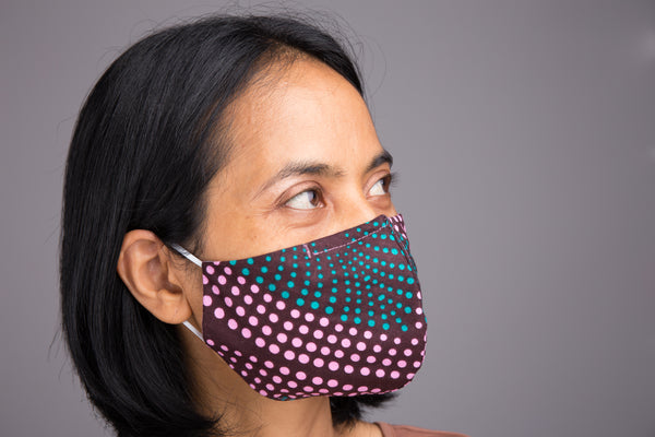 Buy Cotton Face Masks | Ankara Mask with filter pocket by Nuichan