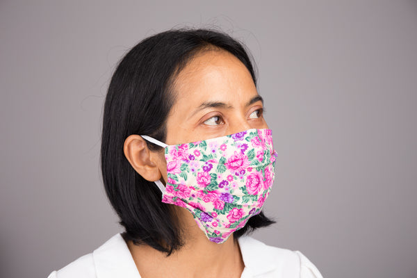 Pack of 3 Face Masks | Mask with filter pocket | 3 layer cotton mask
