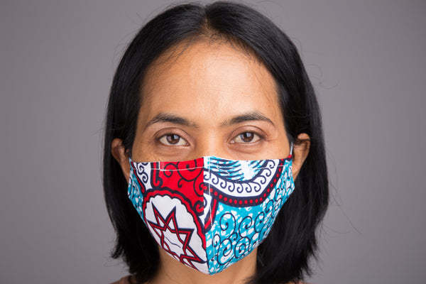 Buy cotton face masks with filter pocket online.  Shop for colourful cloth fabric masks from Nuichan