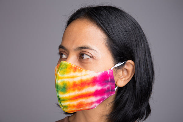 Buy Cotton Face Mask online | Cloth Mask | 3 layer cotton mask tie dye