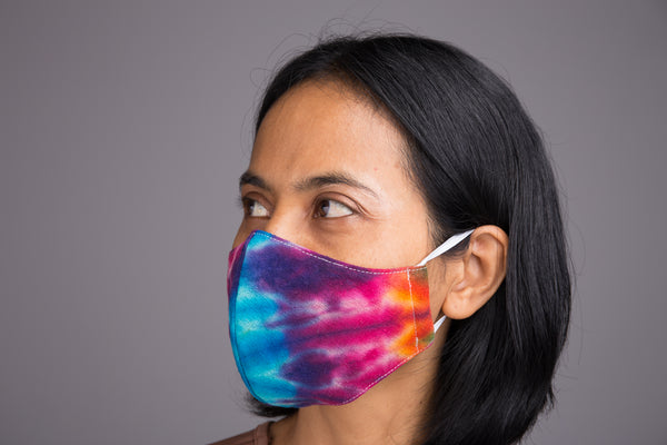 Shop Cotton Face Mask online | Cloth Mask | 3 layer cotton mask tie dye