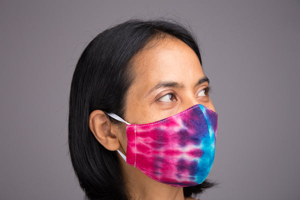 Cotton Face Mask online | Cloth Mask | 3 layer cotton mask tie dye