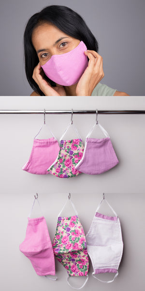 Buy Cotton Face Masks online | Washable Mask with filter pocket by Nuichan