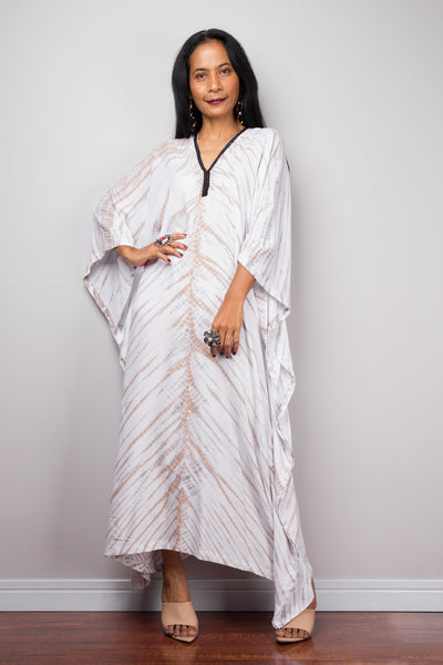 Cotton kaftan, Tie dye dress, resort beachwear caftan, Summer kaftan