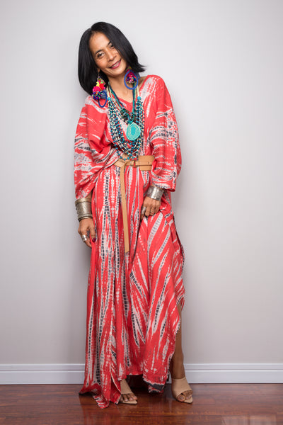Shop Boho tie dye kaftan dress online, Resort dress, holiday dress, Beach cover up by Nuichan