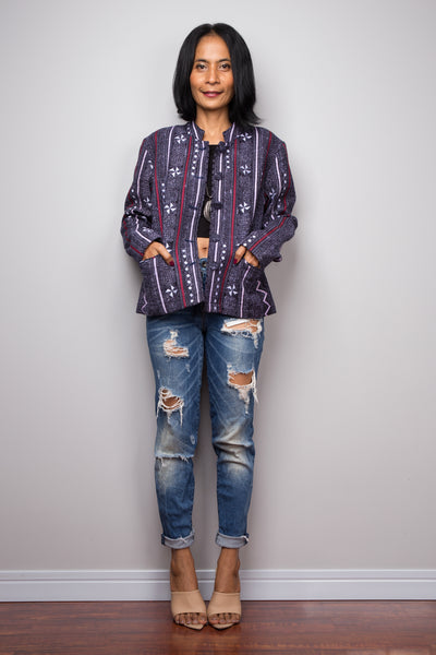 Hill tribe Crop Top Jacket | Boho Chic Crop Tops