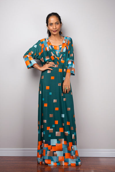 Boho Maxi Dress | Loose fit modest abaya dress