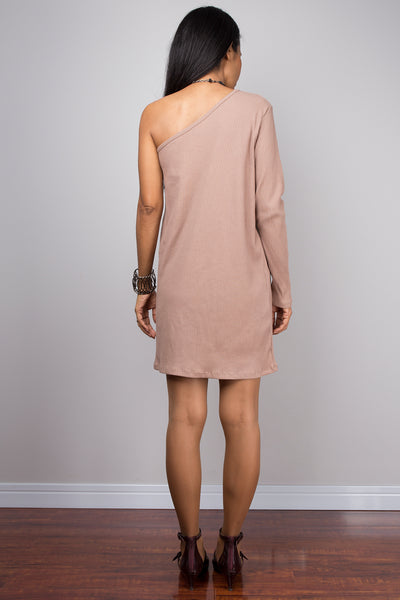 Short dress, nude dress, light brown dress, bodycon dress , nude tunic, sexy beige dress, party dress, bachelorette dress
