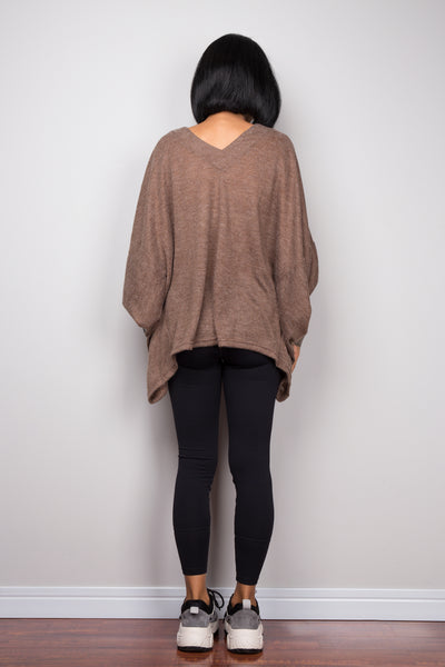 Knitwear sweater kaftan top by Nuichan.  Buy knitted pullover tunic online.