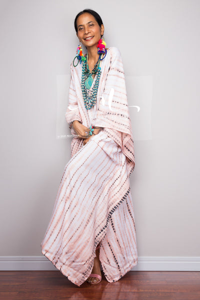 Tie dye kaftan, Beach dress, Long Maxi dress, resort Kaftan, Summer kaftan, Loungewear