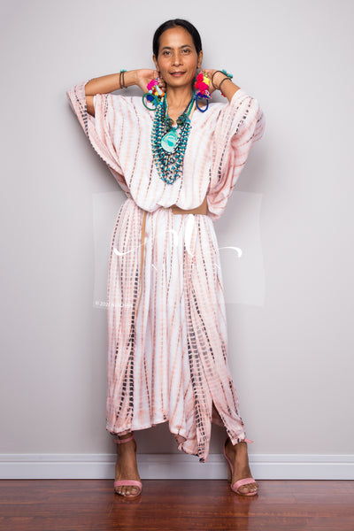 Buy Tie dye kimono kaftan online.  Nuichan offers vast variety of tie dye summer dresses