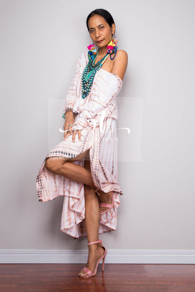 Buy Kaftan dresses online. Kimono kaftan frock dress by Nuichan