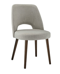 Coro Upholstered Dining Chair - Solid European Beech legs walnut stain