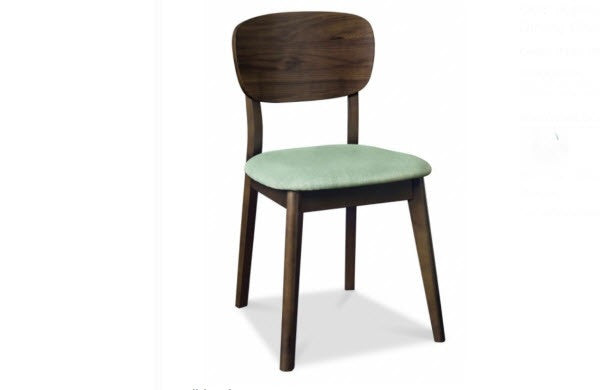 Stockholm panel dining chair walnut