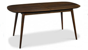 Stockholm extension dining table walnut