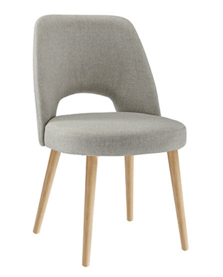 Coro Upholstered Dining Chair - Solid European Beech legs natural finish