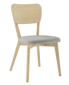 Riga veneer back dining chair