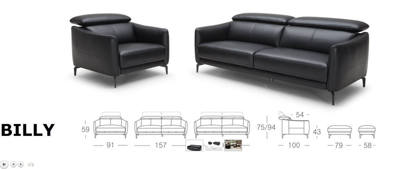 Billy 3 Seat Sofa