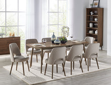 Load image into Gallery viewer, Coro Upholstered Dining Chair - Solid European Beech legs walnut stain